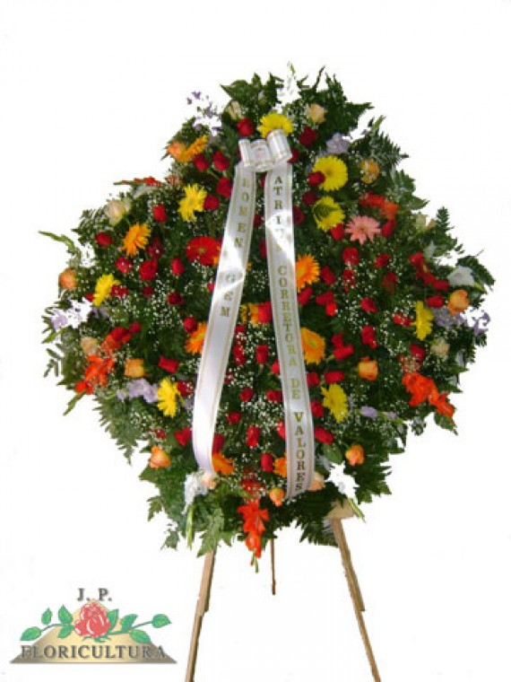 Coroa de Gerberas e Rosas